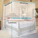 opamoo Moskitonetz Bett Groß Moskitonetz Reise Faltbares Mückennetz Bett Tragbares Eckiges Fliegennetz moskitonetz für Doppelbett und Einzel Bett - 200 x 210 x 220cm - 7
