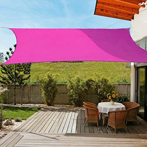 OldPAPA Sonnensegel Rechteckig Sonnenschutz Block 95% UV Wasserdicht Garten Balkon Schwimmbad Leichtgewicht Überdachung mit Freiem Seil Rosa 2x3m