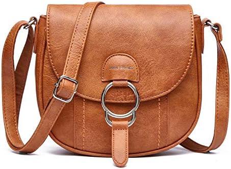 Crossbody Shoulder Bag for Women Purses and Handbags Small Flap Saddle Bag Retro Messenger Bag product image