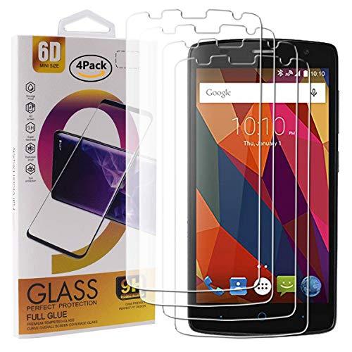 Guran 4 Paquete Cristal Templado Protector de Pantalla para ZTE Blade L5 / L5 Plus Smartphone 9H Dureza Anti-Ara?azos Alta Definicion Transparente Película