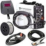 STAHLWERK MIG 135 M IGBT - MIG MAG Schutzgas Schweißgerät mit 135 Ampere, FLUX Fülldraht geeignet, mit...