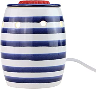 StarMoon Fragrance Wax Melt Warmer, Home Fragrance Diffuser, Home Décor, No Flame, Removable Dish, with One More Bulb (Blue&White)