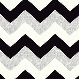 Glitterati Chevron Wallpaper Black Platinum Arthouse 892301