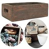 LS-LebenStil Allzweckkiste Aufbewahrung Unika 30cm Griffe Holzbox Holzkiste Deko-Kiste