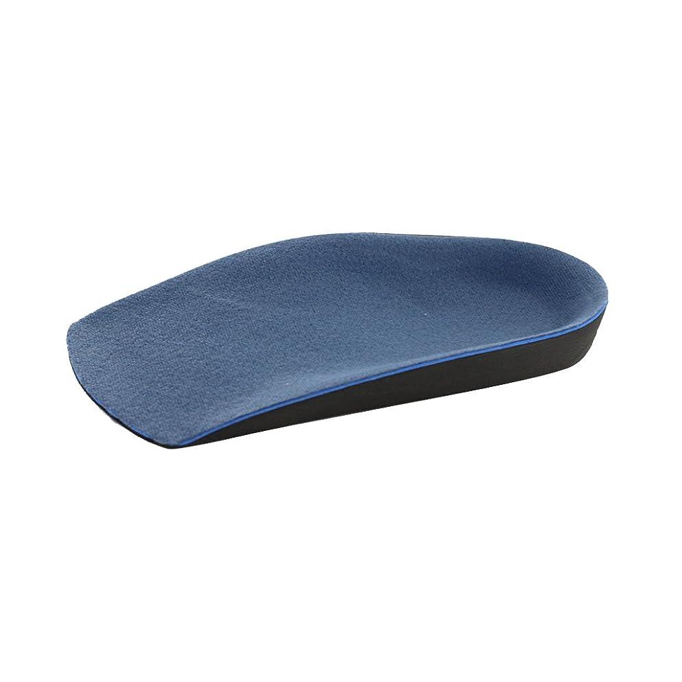 たくさん冷えるかわす【ノーブランド品】男性 補正靴のインソール O脚/ X脚矯正補正 青
