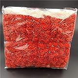 Selotrot 144 Piezas/Paquete Mini Espuma Rosa Artificial Ramo de Flores Decoración de Boda Manualidades Suministros - Rojo