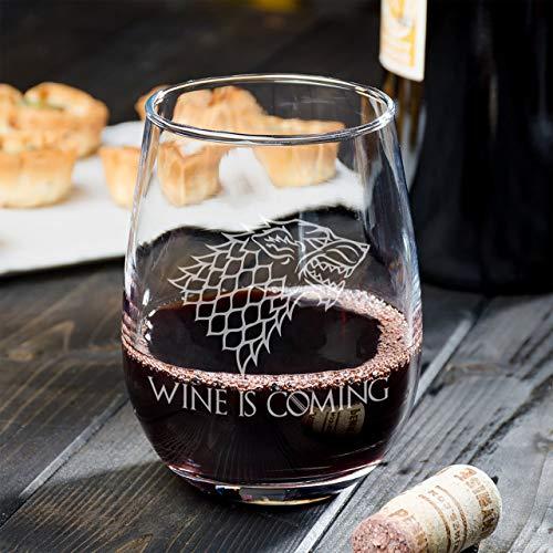Wijn komt wijn glas perfect cadeau voor mannen of verjaardag geschenken kreeg merchandise