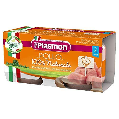 Plasmon Omogeneizzato con Carne di Pollo, 12 x 80g