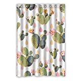 Wild costumes 120 cm x 183 cm (121,9 x 182,9 cm) Badezimmer Dusche Vorhang, Universal Grün Cactus Speziell Zugeschnittene Wasserdicht Badezimmer Duschvorhang Schimmel, Polyester, D, 48