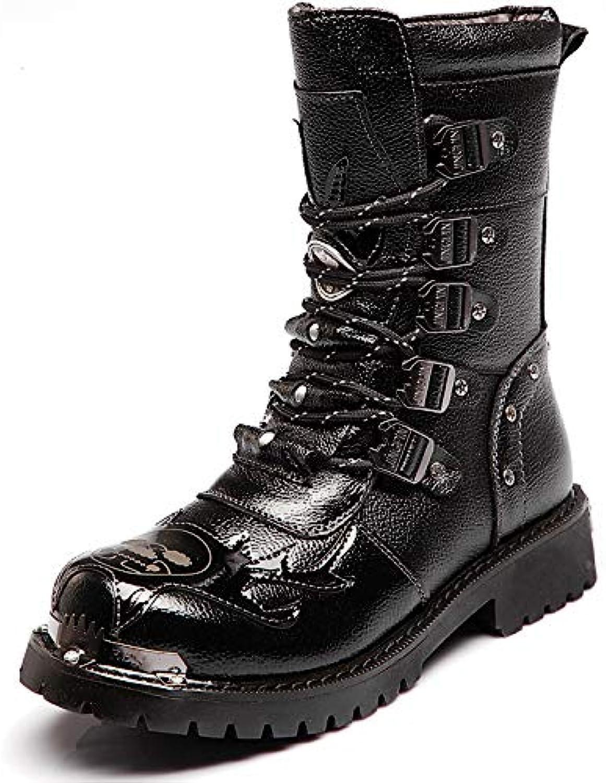 LOVDRAM Men's shoes shoes Men'S Boots, Military Boots, Men'S Martin Boots, Combat Boots