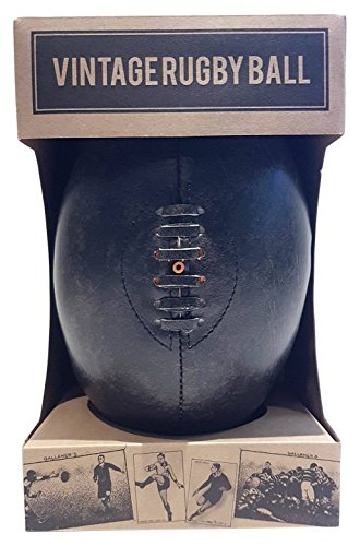 Robert Frederick Pelota de Rugby Vintage en una Caja de Papel Kraft