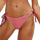 Tommy Hilfiger Reversible Nadar Lado Corbata Bikini Fondo, Logo WW AOP Rosa M Logotipo WW AOP Rosa