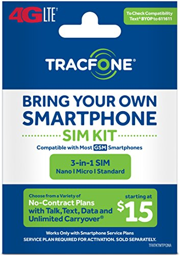 Tracfone - Bring Your Own Phone GSM 3-in-1 Sim Card Kit (4G LTE) - -  TFATKTMT5NA-TRI