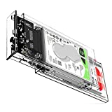 ORICO 2 Bay External Hard Drive Enclosure Transparent Type-C to SATA III 2.5 HDD/SSD Hard Disk Case Tool Free Portable Drive Bay Adapter Max 8TB Support UASP Compatible with Seagate, WD, PS4, Xbox