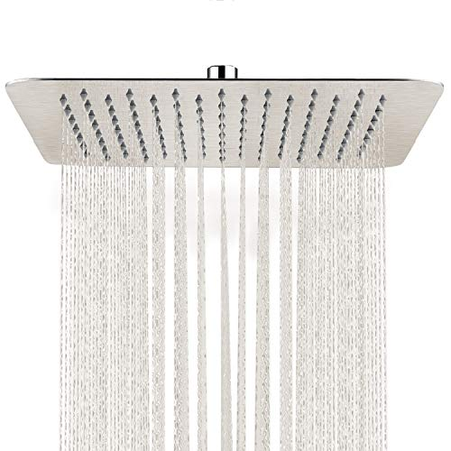 SR SUN RISE 12 Inch Rain Shower Head Brushed Nickel 304...