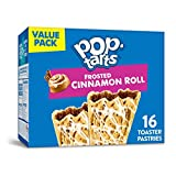 Pop-Tarts Frosted Cinnamon Roll Flavored, Breakfast Toaster Pastries, 16 pop tarts