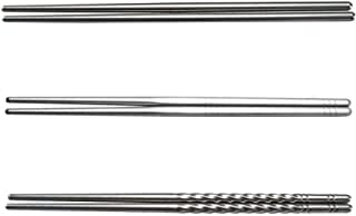50 pares de palillos de acero inoxidable, palillos chinos, palillos de aleación reutilizables, aislamiento antideslizante,...