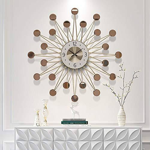 XinMeiMaoYi Reloj de pared marrón reloj de pared sala de estar hogar moda pared gráficos moderno silencio reloj simple estrella personalidad creativo reloj nórdico 620 * 620 (mm)