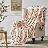Hallmark Soft Blankets and Throws for Couch, Warm Plush Throw Blankets Hearts Flowers, 50''x70''