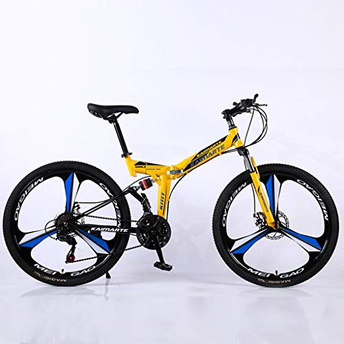 Bdclr 21-speed dubbele schijfrem voor en achter schokdemper draagbare opvouwbare mountainbike