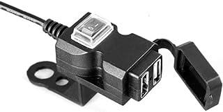 Dual USB Buchse, Ladegerät, Motorrad Steckdose, wasserdicht, für den Lenker, Schnellladung 3.0, USB Ladebuchse, Dual USB Steckdose, Schwarz (9 90 V, schwarz)