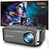 Projector, OKCOO Native 1080P Video Projector Outdoor Movie Projector, Upgrade Business PowerPoint Presentations Projector, Home Theater Projector for Laptop, iPhone, Smartphone, Fire TV Stick, PS4