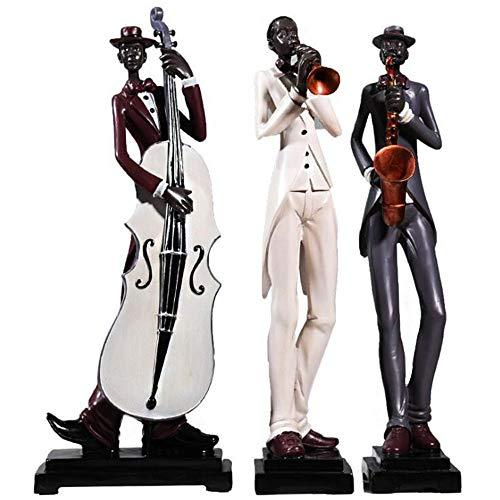 Decoración Creativa De Artesanías De Resina De Banda De Jazz Creativa para Tres Personas, para El Hogar, Sala De Estar, Oficina, Gabinete De Vino, Decoración, Manualidades
