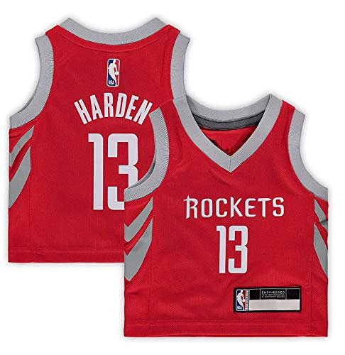 Outerstuff Kids 4-7 James Harden Houston Rockets Red Replica Home Alternate Road Player Jersey (Medium-5/6)