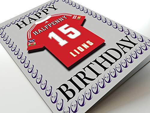 International Rugby Union Kühlschrank Magnet Geburtstag Karten–Jeder Name, beliebige jedes Team., British Lions International Rugby Fridge Magnet Card