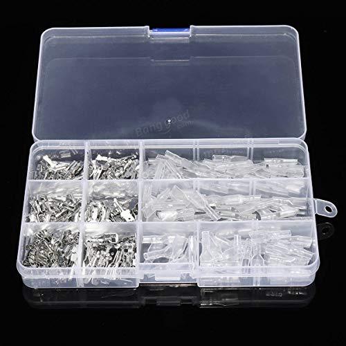 ARCELI 270Pcs Macho Macho Espada Alambre Crimpado Conectores rápidos Terminales de cableado 2.8mm 4.8mm 6.3mm - Equipo y Suministros eléctricos Conectores y terminales -30 x 2.8mm