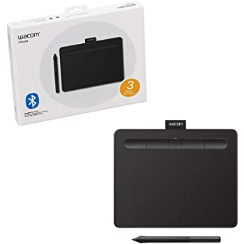 """Wacom CTL4100WLK0 Intuos Wireless Graphics Drawing Tablet with Software Included, 7.9"""" X 6.3"""", Black"""