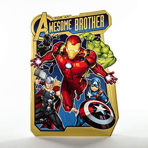 Geburtstagskarte für Bruder von Hallmark – Popout Marvel Avengers Design