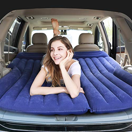 TianriJ Car SUV Inflatable Mattress Off-Road Car Travel Bed, Car Sleeping Bed Travel Inflatable Mattress Air Bed for Car Universal SUV Extended Air Couch (Color : Blue)