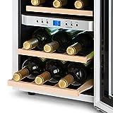 Klarstein Reserva - Weinkühlschrank, Getränkekühlschrank, Kühlschrank, 34 Liter, 2 programmierbare Kühlzonen, 12 Weinflaschen, 7-18 °C, Innentemperaturanzeige, weiß [Energieklasse B] - 6