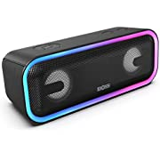 DOSS SoundBox Pro+ Wireless Bluetooth Speaker with 24W Impressive Sound, Booming Bass, Wireless Stereo Paring, Mixed Colors Lights, IPX5 Waterproof, 15 Hrs Battery Life, 66 ft Bluetooth Range