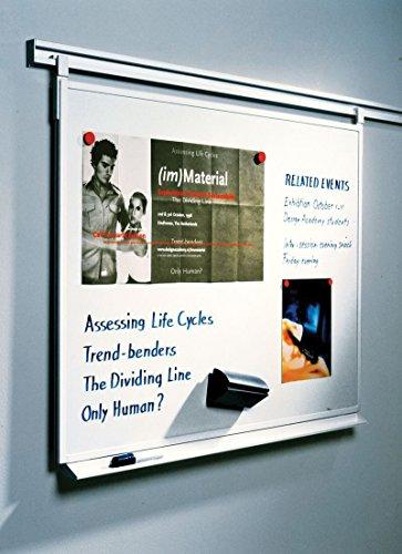 Legamaster 7-300063 Whiteboard für Legaline Professional Wandschienensystem, emailliert, 150 x 100 cm