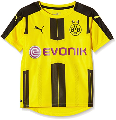 Puma Unisex-Kinder Heimtrikot BVB Replica, Gelb (Cyber Yellow/Black), 164, 749828 01