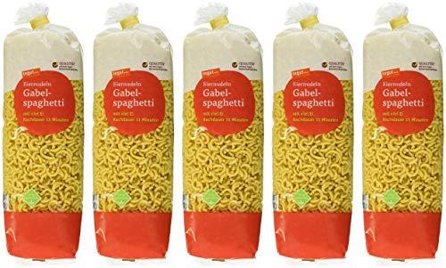 tegut... Eiernudeln Gabelspaghetti, 5er Pack (5 x 500 g)