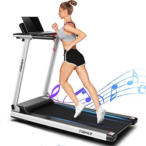 FUNMILY Folding Electric Treadmill,12 preset Programs, Heavy Duty Steel Frame Treadmills...