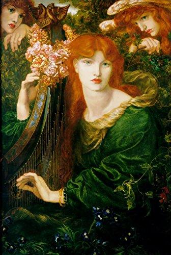Dante Gabriel Rossetti - La Ghirlandata, Size 24x36 inch, Poster Art Print Wall décor