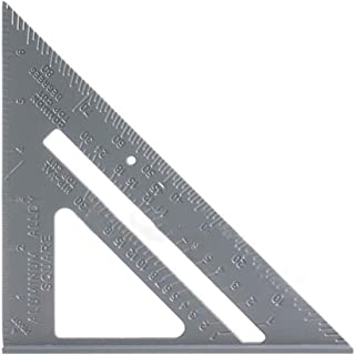 Triangle Rulers, KKmoon 6.5in Aluminum Alloy Triangle Rulers Protractor Miter Framing Measurement Ruler For Carpenter