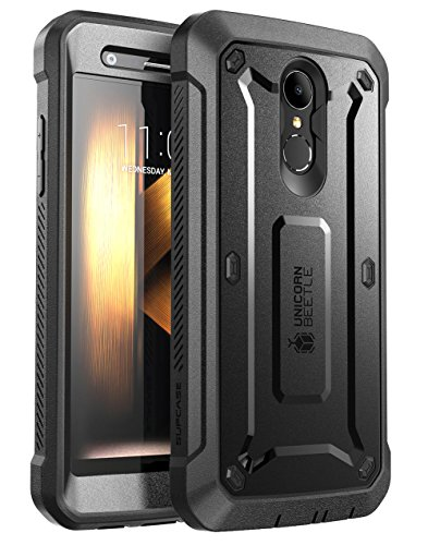 SUPCASE [UB PRO] Case for LG K30, Full-Body Rugged Drop-Proof Case with Built-in Screen Protector and Rotating Belt Clip Holster for LG K30 / LG Premier Pro/LG K10 2018 Release (Black)