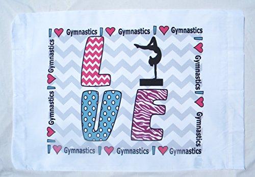 Love gimnasia estándar funda de almohada