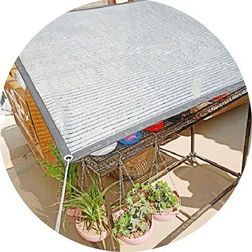 75% Tasa de sombrilla de sombrilla Papel de Aluminio Plateado Sombreado Neto Balcón al Aire Libre Jardín Flor Suculenta Plantas Cubierta Protección Sombra Sora Z-656E4E3C