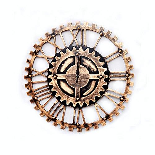 Fnho Oficina Estar Reloj de Pared Mute,Reloj de Pared silencioso diámetro maquinaria,Reloj de Pared Industrial Viento Retro, Reloj de Pared (40cm) -G