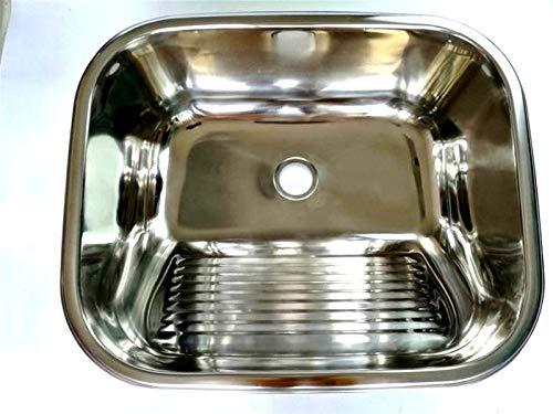 LULIJP RV Caravana Camper Acero Inoxidable Lavado a Mano Lavabo Fregadero de Cocina GR-543A (Color : Sink and Faucet, Size : Gratis)