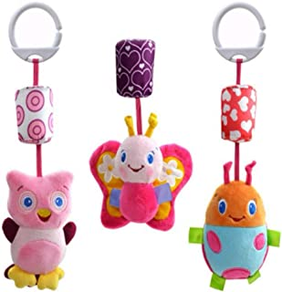 DAYONG The owl Butterflies Ladybugs Baby Toy Lathe Hanging Bed Bell Baby Shadow Cartoon Wind Bell Bed Hanging Toys