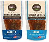 Earth Animal Agility and Shine Chicken Cutlet Treats (2 Bags Each Containing 8 Ounces of Treats, 1...
