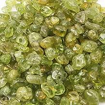 "FEEIN Crystal Beads for Jewelry Making,5-8mm Natura Irregular Peridot Gemstone Tumbled Irregular Stone Chips Beads,,Energy Crystal HealingStones Gemstones Loose Rock Beads,DIY Art Crafts,1 Strand 33"""
