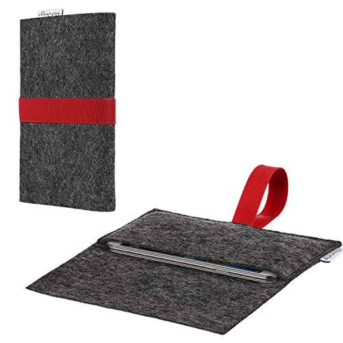 flat.design Handyhülle Aveiro kompatibel mit BlackBerry KEY2 (Dual-SIM) - Smartphone-Tasche aus Filz - Handytasche Handmade in Germany